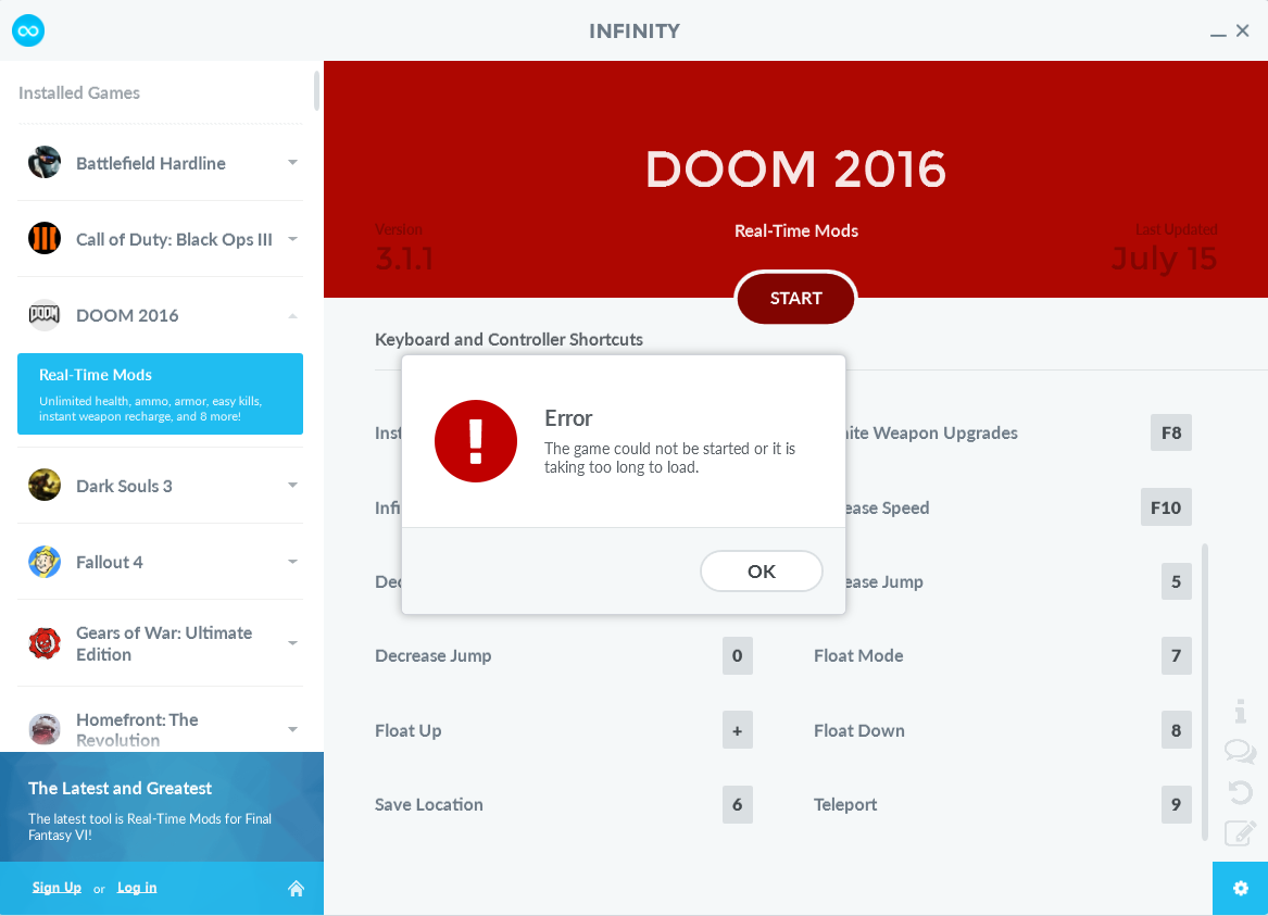 Doom 2016 cheats and trainer tools and trainers wemod for Gardening tools 94 cheats